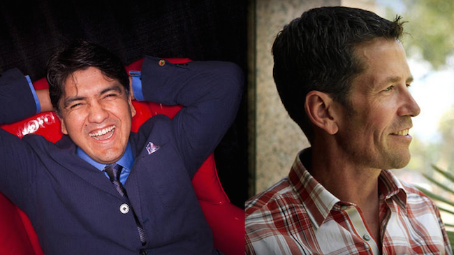 "Sherman Alexie and Jess Walter have launched a podcast, ""A Tiny Sense of Accomplishment."" (Anthony Pidgeon/Redferns, Ricardo DeAratanha / Los Angeles Times)"